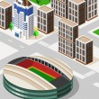Stock Vector: Soccer Stadium Isometric