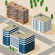 Campus Isometric — Stock Vector
