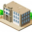 Stock Vector: Mansion Isometric