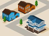 House Isometric — Stock Vector