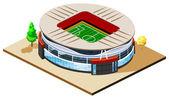Soccer Stadium Isometric — Stock Vector