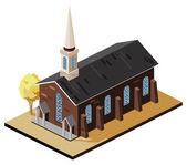 Old Church — Stock Vector