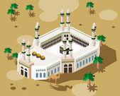 Hadj op mekka — Stockvector