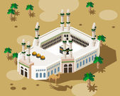 Hajj on Mecca — Vector de stock