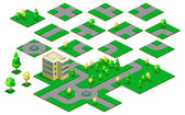 Map Isometric — Stock Vector