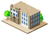 Mansion Isometric — Stock Vector