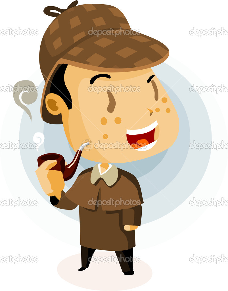British Detective. Colorful Detailed vector Illustration. — Stock Vector #1607238