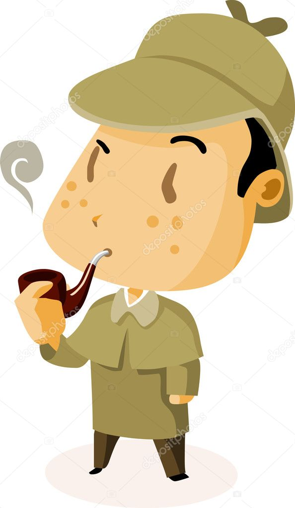British Detective. Colorful Detailed vector Illustration. — Stock Vector #1607243
