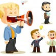 Megaphone. Business — Stock Vector