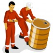 Oil Worker - Stock Vector