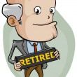 Stock Vector: Retired