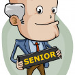 Senior — Stock Vector