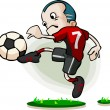 Stock Vector: Soccer Player Cartoon