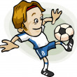Soccer Player Cartoon — Stock Vector #1697291