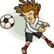 Soccer Player Cartoon — Stock Vector #1697308