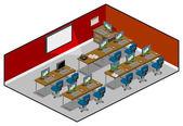 Computer Class — Stock Vector