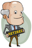 Retired — Stock Vector
