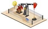 Oil Pump Isometric — Stock Vector