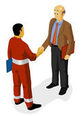 Shaking hand over Agreement — Stock Vector