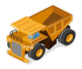 Heavy Mining Truck — Stock Vector