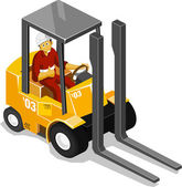 Forklift Isometric — Stock Vector