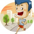 Jogging in the city — Stock Vector