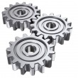Three gear - Stock Photo