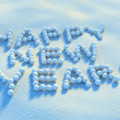 Snowball happy new year — Stock Photo #1588035
