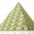 Money pyramid — Foto Stock