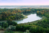 Morning on Kuban river — Stock Photo