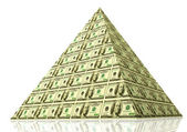 Money pyramid — Stock Photo