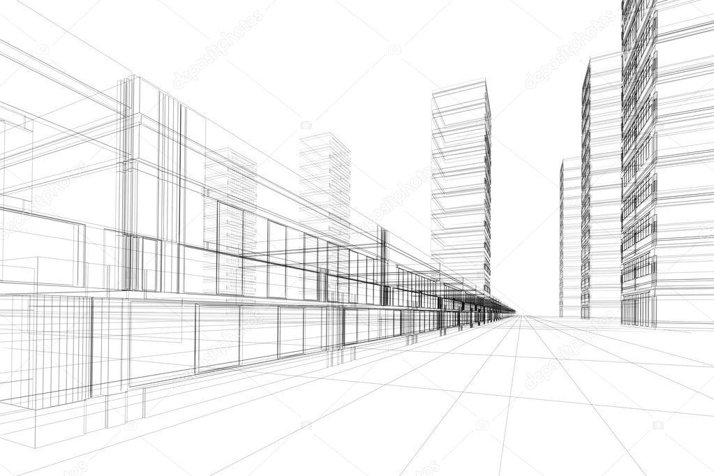 概念-现代城市, 现代建筑与设计 — 照片作者 artyfree