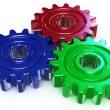 Stock Photo: Three color gear