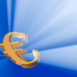 Beaming gold euro — Stock Photo