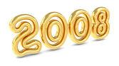 Gouden nieuwe jaar 2008 — Stockfoto