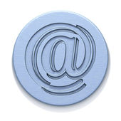 Metal plate with a badge of e-mail — Stock Photo