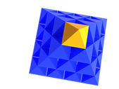 Blue pyramid with yellow top — Stock Photo