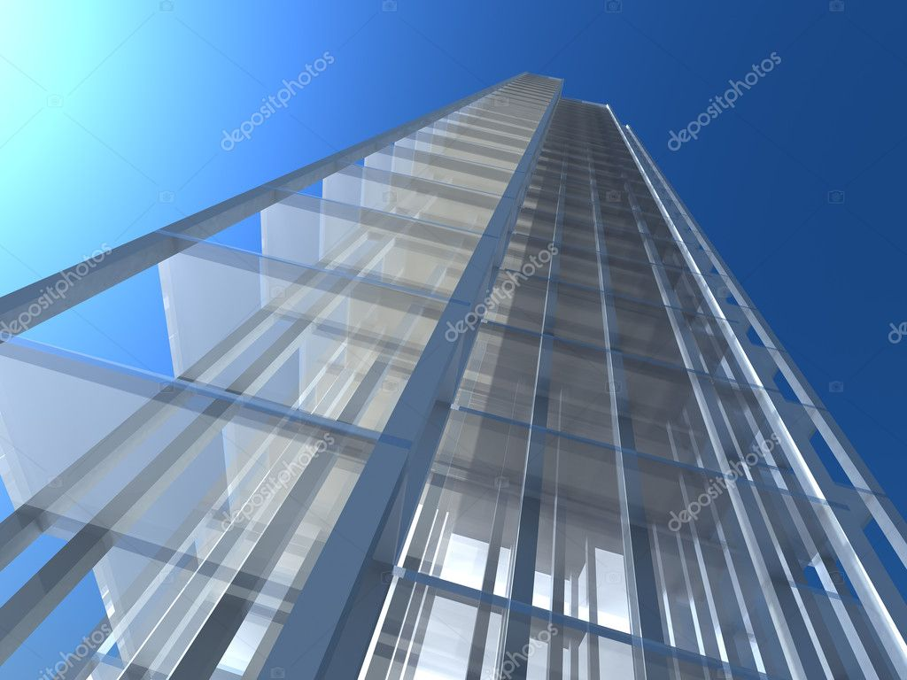 The concept of modern architecture, constructions and sky-scrapers.  Stock Photo #1594807