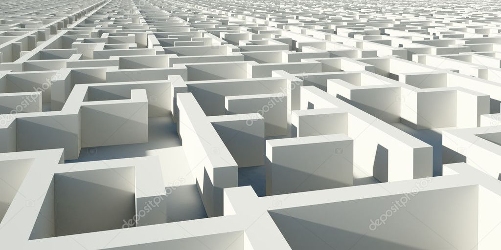 Abstract infinity construction like maze  Stock Photo #2156735
