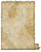 Aged old paper with twirled bottom — Stock Photo