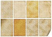 Serii od 8 wieku stary papier — Zdjęcie stockowe