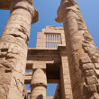 Part of a huge Karnak temle. - Stock Photo