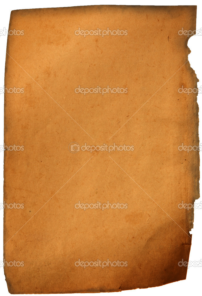 Genuine old aged paper twirled isolated on white — Stock Photo #2123661