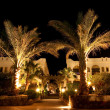 Stock Photo: Egyptinight hotel at night