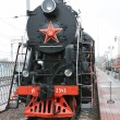 Soviet Union steam locomotive — Stock Photo