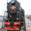 Stock Photo: Soviet Union steam locomotive