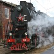 Stock Photo: Steam locomotive closeup