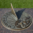 Stock Photo: Bronze Sundial