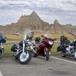 Motorcycles in Badlands National Park — Stock Photo #1545787