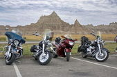 Motorcycles in Badlands National Park — Stock Photo